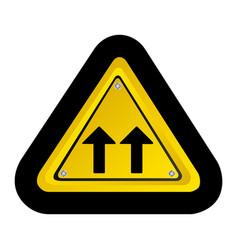 metal emblem warning sign icon vector image vector image