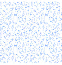 pattern of a bottle for a newborn contours vector image