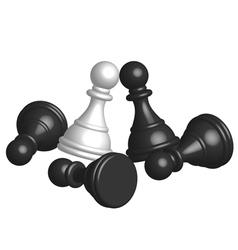 pawn battle vector image