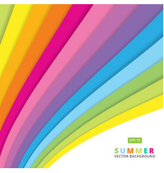 summer colorful striped curve line pattern vector image vector image