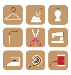 tailor icons vector image vector image