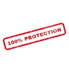 100 Percent Protection Text Rubber Stamp vector image