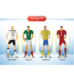 2018 soccer or football team uniform group f vector image
