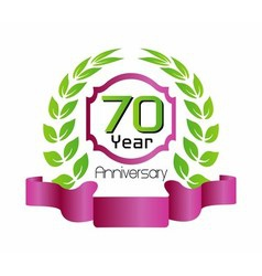 70 year birthday celebration vector