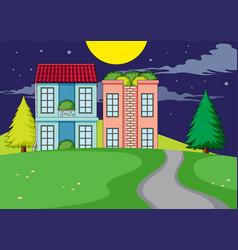 A simple rural home village vector