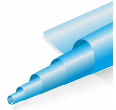 abstract blue paper roll on white vector image