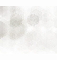 abstract geometric background grey hexagon vector image
