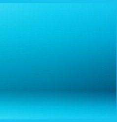 Abstract of blue gradient room background vector