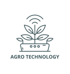 Agro technology line icon technology vector