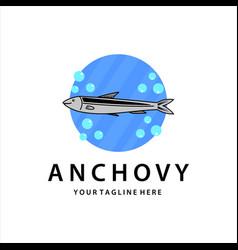 Anchovy vintage logo template design vector