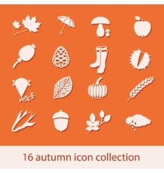 Autumn icon collection vector