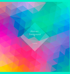 Background of geometric shapes vector