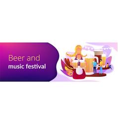 Beer fest concept banner header vector