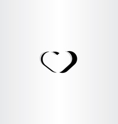 black heart logo icon symbol element sign vector image