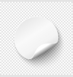 Blank papper round banner price tag template vector
