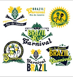 Brazilian Carnival Big set of Brazilian templates vector