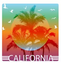 california summer graphic design tee artwork vector image