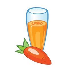 carrot juice vector image