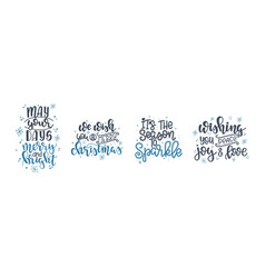 christmas lettering motivational quote vector image