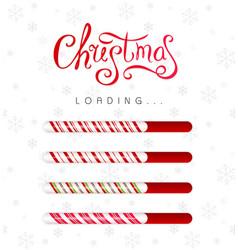 christmas loading bar collection progress borders vector image
