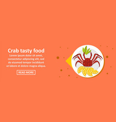 crab tasty food banner horizontal concept vector image