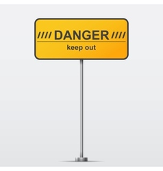 Danger road sign vector image