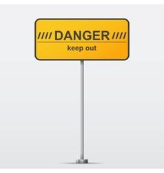 Danger road sign vector image