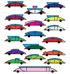 decorative cars vector image