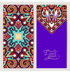 Decorative label violet colour card for vintage vector