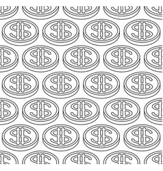 Dollar coin pattern vector