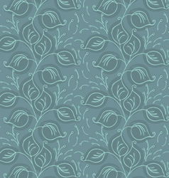 Fabric design leaves green vector