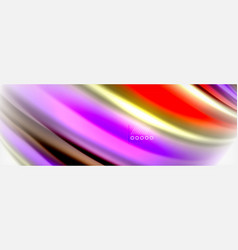 Fluid liquid colors abstract background colorful vector