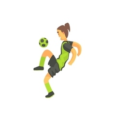 Football Player With Ponytail Isolated vector