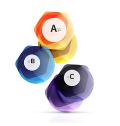 glass color hexagons glossy plastic hexagon vector image