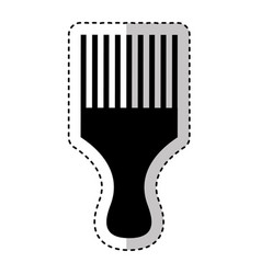 hairdresser rake comb isolated icon vector image