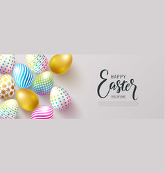 Happy easter banneregg hunt beautiful background vector