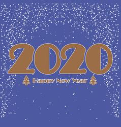 happy new year 2020 christmas design icon vector image