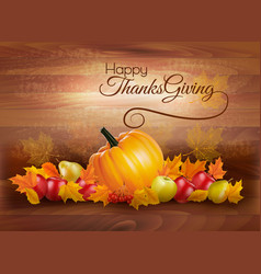 happy thanksgiving card with autumn vegetables vector image