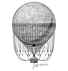 henri giffard balloon vector image
