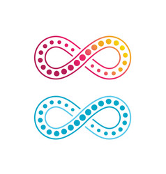 Infinity design logo template vector