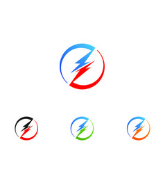 Lightning icon logo and symbol vector