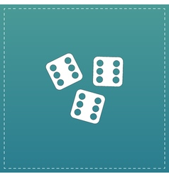 Lucky dices casino gambling game jackpot vector