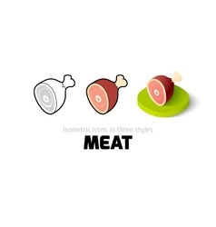 Meat icon in different style vector image