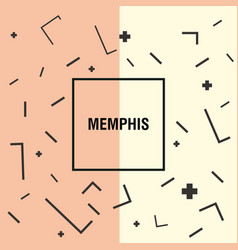 memphis style design vector image