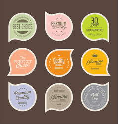 modern badges collection 2 vector image