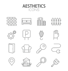modern thin line flat design icons set vector image