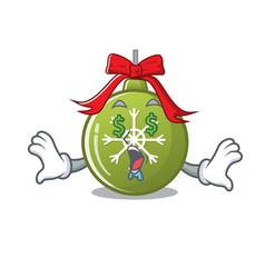 Money eye christmas ball green cartoon decorate vector
