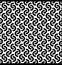 Monochrome rounded lines seamless pattern vector