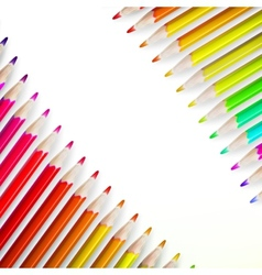 Multicolored pensils isolated plus EPS10 vector image