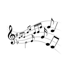 music flying vector image